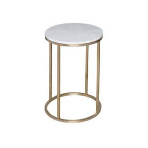 buy white marble and gold metal side table from fusion living