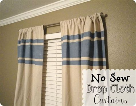 no sew drop cloth curtains no sew drop cloth curtains