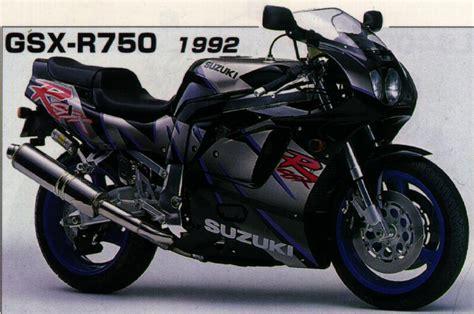 1992 Suzuki Gsxr 750 1992 Suzuki Gsx R 750 W Moto Zombdrive