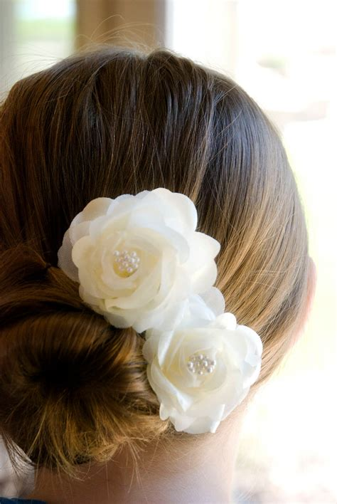 Wedding Hair Flowers by Wedding Hair Accessory Ivory Wedding Hair Flowers