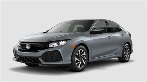 grey honda civic 2017 honda civic hatchback color options