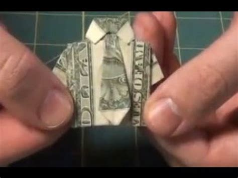 Shirt And Tie Origami Dollar Bill - improved dollar origami shirt make a dollar bill shirt