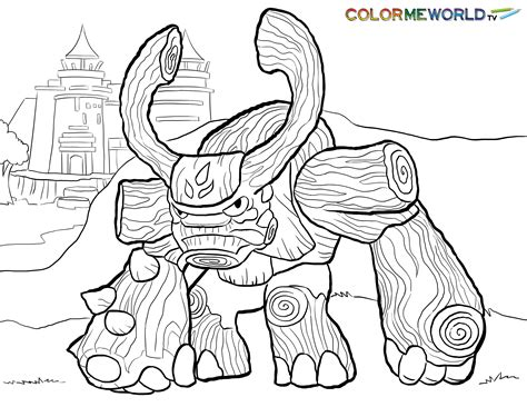 skylanders tree rex coloring page tree rex free color