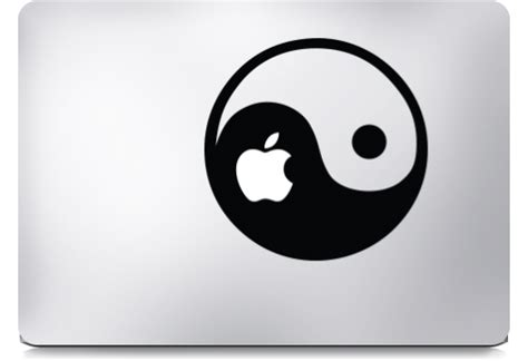 yin yang macbook stickers
