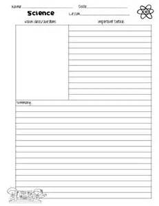 note paper template the idea backpack cornell notes templates for science