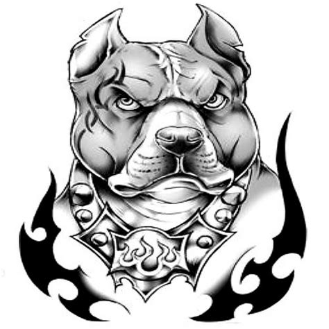 dog head tattoo designs 7 pit bull designs and stencils