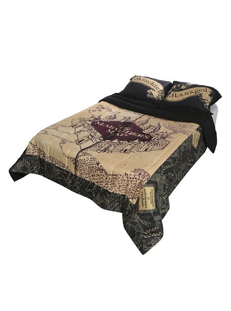 harry potter bed sheets harry potter the marauder s map full queen comforter hot topic