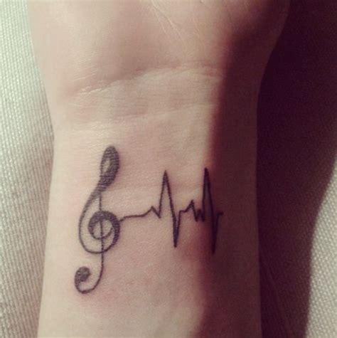 tattoo on wrist nurse music tattoo love it music mylife love the ekg reading