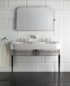 deco bathroom sinks console sink wide blues by