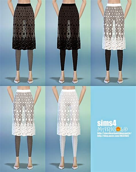 Lace H Line Skirt lace h line skirt with leggings 레이스 스커트 레깅스 여성 의류 sims4