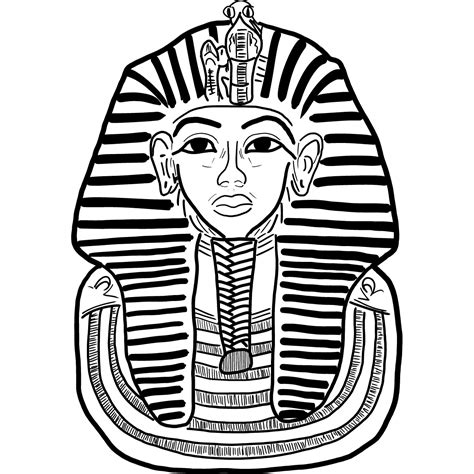 King Tut Mask Template by Clipart King Tut Pencil And In Color