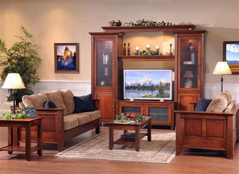 Wooden Living Room Set by Amish Living Room Furniture By Dutchcrafters