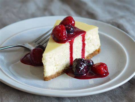is ny style cheesecake refrigerated berry sauce once upon a chef