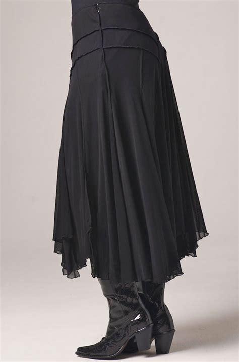hanky hem skirt black mesh handkerchief hem skirt western wear by n