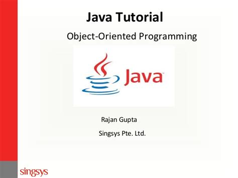 tutorial java object oriented programming java tutorial