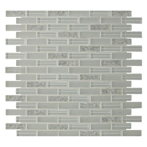 shop gbi tile stone inc gemstone white mosaic glass wall tile common 12 in x 12 in actual