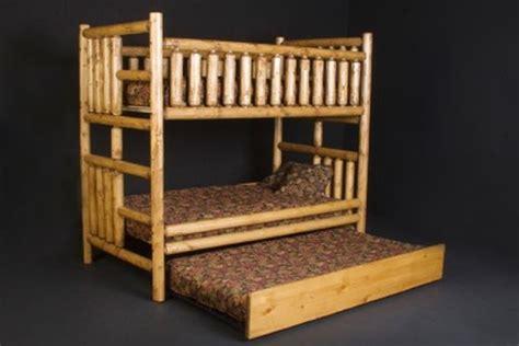 log bunk bed bunk beds