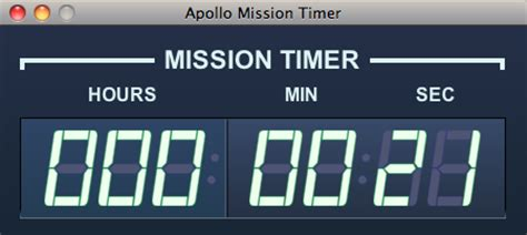 swing timer java swing apollo space program mission timer java user group