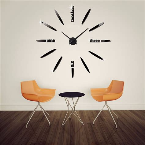 Jam Dinding jam dinding besar diy 80 130cm diameter elet00661 black jakartanotebook