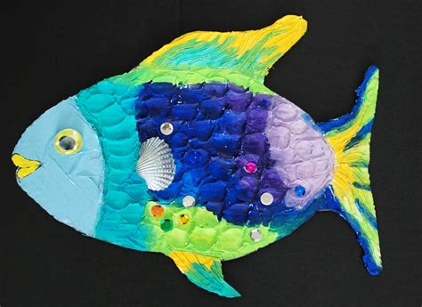 How To Make A Fish Out Of A Paper Plate - that artist how to make a rainbow fish