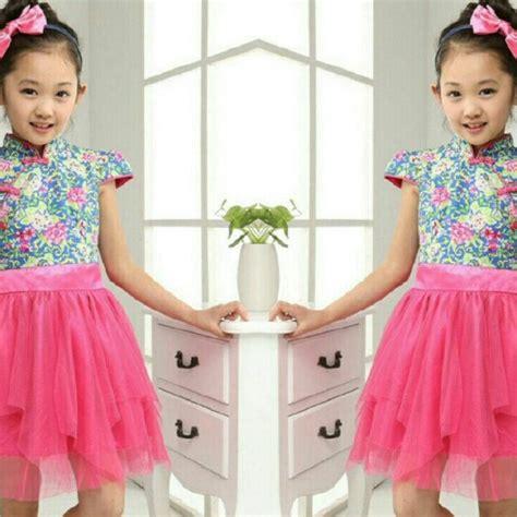 Dres Anak Terbaru baju setelan dress anak perempuan princess shanghai cantik model terbaru murah