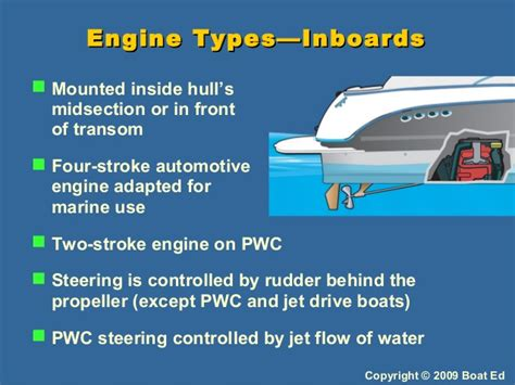 types of boats engines adventures in boating wa 2009