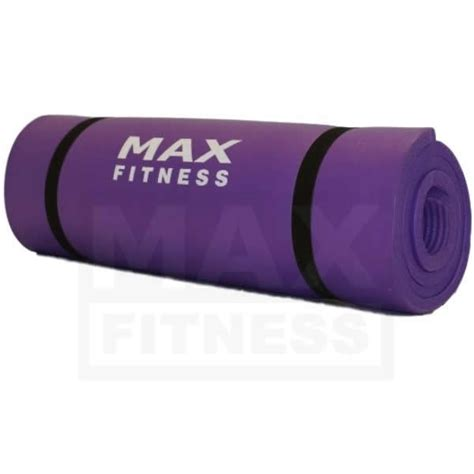max fitness exercise mat 15mm thick purple fitness