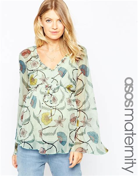 Pretty Printed Blouses by Lyst Asos Blouse In Pretty Floral Print