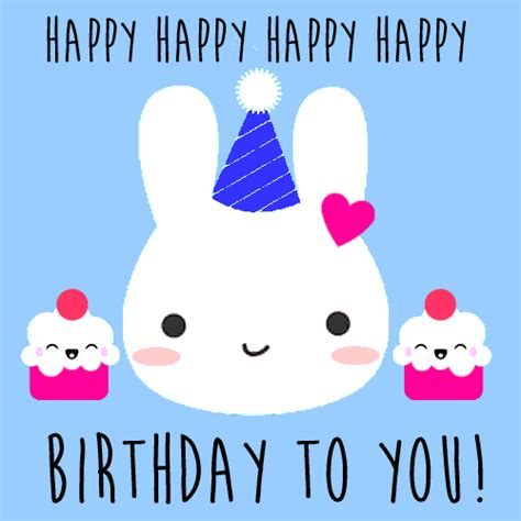 Happy Birthday To My Card Cute Rabbit Birthday Card Free Happy Birthday Ecards
