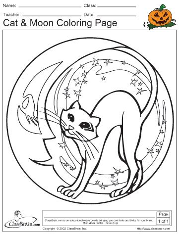 Halloween Moon Coloring Pages Festival Collections Moon Festival Coloring Pages