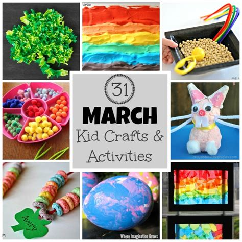 march crafts for 31 days of march crafts activities for where