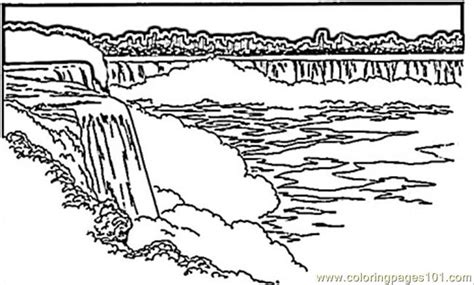 rainforest waterfall coloring page a of a waterfall in rainforest coloring pages