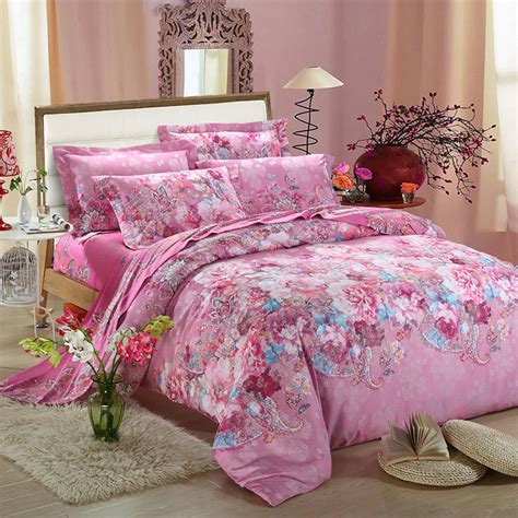 Flower Bed Set Home Textile Bamboo Fiber Cotton Jacquard 3d Bedding Set Flower Bed Linen Duvet Cover Bed Sheet