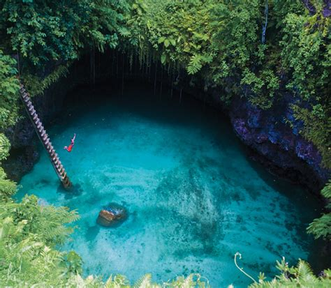 Black Sand Beach Big Island by To Sua Ocean Trench The Great Blue Hole Of Samoa Luxury