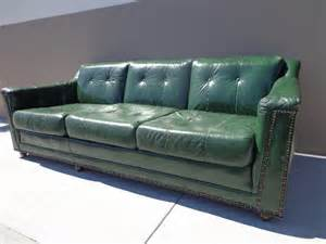 green leather sofa vintage green leather sofa brass tacks hancock
