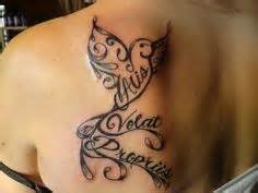 my first tattoo means she flies with her own wings in another tattoo but there all too cute on pinterest