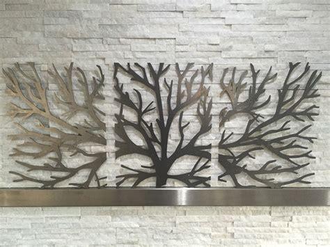 wall decor sculpture metal wall decor 3d sculpture 3 tree brunch