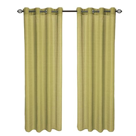 curtains 95 length lavish home sage olivia jacquard grommet curtain panel 95