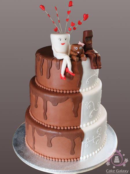Hochzeitstorte Milch Und Schokolade by Cake Galaxy Hochzeit