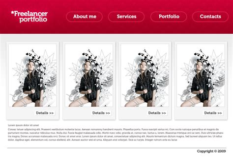 portfolio templates for photoshop freelancer portfolio design photoshop tutorials