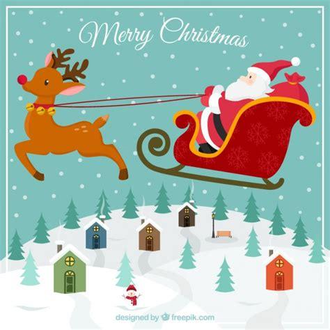 free christmas cards santa claus cards santa claus flying christmas card vector free download