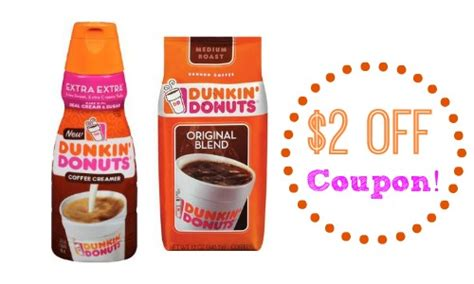 Dunkin' Donuts Coupon: Save on Coffee & Creamer! :: Southern Savers