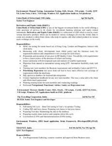 resume sles software testing bestsellerbookdb