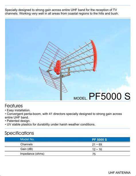 Antena Uhf Pf 5000 Pf 5000 S Pf Antenna Indonesia