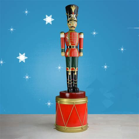 life sized toy soldier on drum 107 quot