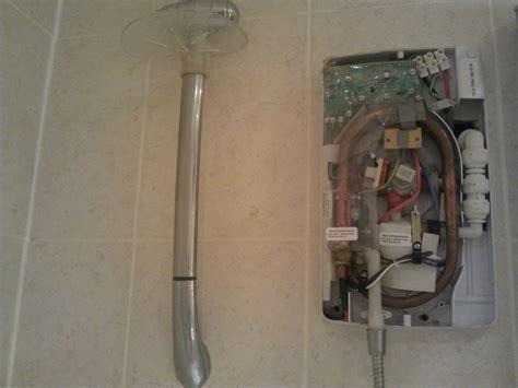 Plumbing An Electric Shower by Electric Shower Exchange Macerator Repair Plumbing