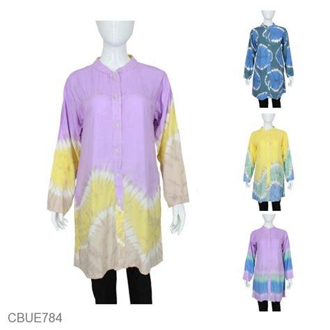 Blus Rayon Murah Kombinasi blus pelangi rayon arnis atasan muslim murah batikunik