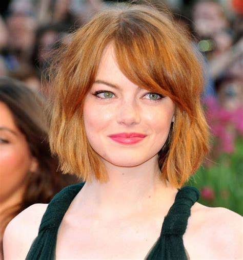 emma stone face shape what you need to ask your hairdresser before a big change
