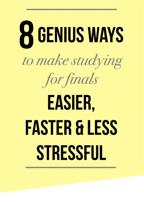 Pdf Best Way To Study For Finals by 17 Best Ideas About Studying For Exams On Tips