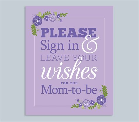 Baby Shower Sign In by Weddings By Susan Printable Baby Shower Signs And